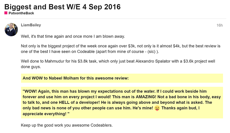 Best review of the week 04-Sep-2016